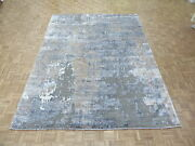 9 X 12 Hand Knotted Brown And Gray Modern Abstract Oriental Rug G4304