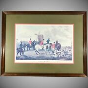 Fox Hunt Lithograph 'the Meet' After William Shayer Junior