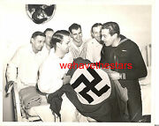 Vintage Cesar Romero And G.i.s With Captured Nazi Flag Candid And03944 Portrait