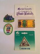 Retired Girl Scout Fun Patches Troop Camping Tent Caroling Try It Eco Explorer