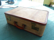 Vintage Tweed Case Gig Gear Pedal Cables Suitcase