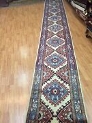 2and0395 X 22and0394 Turkish Tribal Floor Runner Oriental Rug - Hand Made - 100 Wool