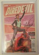 Daredevil 15 Signed By Mark Waid Bagged Boarded And Toploader Nm/m Netflix Show
