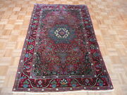 4 X 6and03910 Hand Knotted Red Antique Fine Kirman Oriental Rug G1888