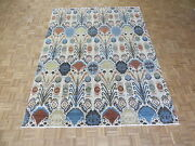 7'11 X 10'2 Hand Knotted Multi Colored Ikat Peshawar Oriental Rug G5210