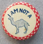 1930's I'm Not A Camel Novelty Humor Risque Celluloid Pinback Button