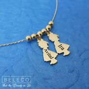Custom Children Names Necklace Child Boy Girl Charms Kids Jewelry Customize Gift