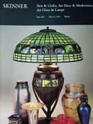 Skinner Arts And Crafts Art Deco And Modernism Art Glass And Lamps May 15 1992