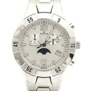 Edox Moon Phase Stainless Steel Menand039s Analog Wristwatch Exceptional Watch