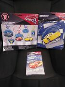Disney Cars 3 Party Kit Invitations, Thank Yous, Banner, And Swirl Decorations