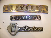 Toyota Deluxe Emblems Oem Mixed Lot
