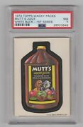 1973 Topps Wacky Packages 1st Series Rare Mutts  Psa 7 W/b