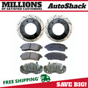 Rear Brake Calipers Semi Metallic Pads Performance Rotors Kit For Ford Excursion
