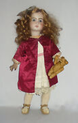 Antique French Doll Bisque Head Jumeau Clothings Dresse Very Good Condition 1900