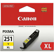 Canon Cli-251y Xl High Yield Ink Cartridge Yellow With Inkjet Print Technology