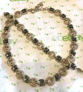 Vintage Christian Dior Andalusite And Crystal Necklace And Bracelet Set