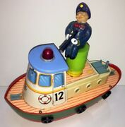 Old Vintage Battery Operated Tin Plate Huge Ship Modern Toy Japan