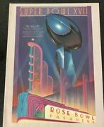 Super Bowl Xvii Nfc Vs Afc Pre Cover Before They Know Who Played Game Program