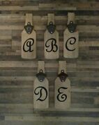 Letter A Personalized Script Beer Opener Wall Mounted Bottle Opener Fathers Dayandnbsp