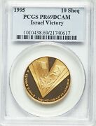 1995 1/2 Oz Gold 50 Years Since The Victory Over Nazi Germany Pcgs Pr69dcam
