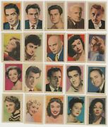 Lot Of 20 Small Paper Stock Trading Cards 1950s Film Stars Spain D.reed Brynner