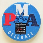 Wwii Pma Delegate Pacific Maritime Ass'n Home Front Pinback Button Union A2