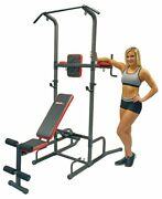 Home Gym Workout Bench Pull Ups Dips Bench Press Abs Chest Leg Raises Lifting