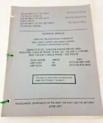 Technical Orders Generator Set Gasoline Engine Driven - Manuals Army 1977