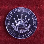 The City That Care Forgot New Orleans Purple Knights Of Mardi Grass Token/ Coin