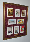 President George W Bush And Laura White House Christmas Card Collection Frame Coa
