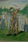 George Crionas The Swing Is The Thing Hand Signed Original Golf Painting 1960