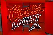 Coors Light Or Coors Beer Dual Ballast Large Neon Display Sign - New - 38 X 32