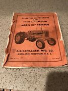 Allis-chalmers Model D17 Operating Instructions And Parts Illustration Manual