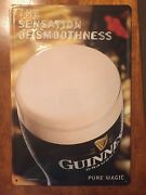 Guinness Draught The Sensation Of Smoothness Pure Magic Tin Sign Guiness And Co.