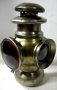 Solar Brass Oil Tail Lamp Pierce Arrow Thomas Stanley Model T Ford Buick Olds