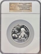 2012 China 5oz Silver 30th Anniversary Of The Issuance Of Gold Pandas Ngc Pf70uc