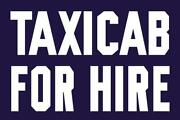 Vintage Style Metal Sign Taxi Cab For Hire 30 X 20