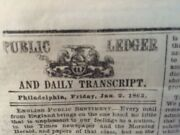 Abraham Lincoln Emancipation Proclamation 1st Print Newspaper Notice Of Signing