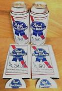Pabst Blue Ribbon Pbr Beer Koozie 24 Oz Tall Can Cooler Coozie 4 Pack New F/s