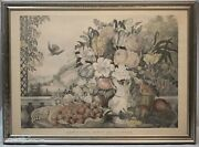 Currier And Ives Landscape, Fruit And Flowers 1862, Large Folio And Super Rare