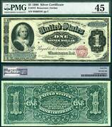 1886 1 Silver Certificate Fr-215 Pmg Graded Choice Extremely Fine 45