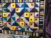 Rainbow Colors With Dragonfly Quilt Queen Size