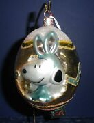Polonaise Glass Ornament Snoopy Easter Egg, Ap1164, New In Box