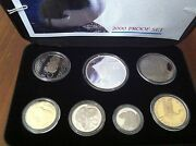 New Zealand. 2000 7 Coin Proof Set Pied Cormorant Very Scarce 3142461a