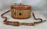 Mcm Visetos Vintage 90s' Cognac Brown Canvas Leather Beauty Case Made In Germany