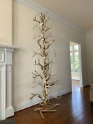 Antler And Cedar Handcrafted Totem Christmas Tree Sculpture Rustic Decor 8' Tall