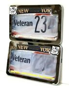 2019 2nd. Gen Motorcycle Clear Anti Photo License Plate Cover /w Chrome Frame