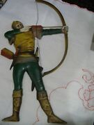 Large Vintage Cast Metal Bow And Arrow Wall Hanging Plaqueold Century Forge