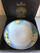 Gianni Versace Rosenthal Jungle Orchid Yellow Big 17 Bowl The Only 1  Ag