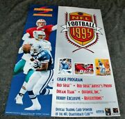 Nfl 1995 Bledsoe Jerry Rice Troy Aikman Pinnacle Trading Card Promo Poster Fn